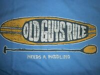 "OLD GUYS RULE "" NEEDS A PADDLING "" STAND UP SURF SURFING SURFBOARD FIN SIZE XL"