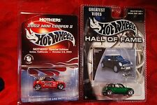 Hot Wheels 2 Mini Coopers Mothers Wax Special Edition & Hall of Fame Real Riders