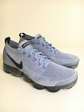 Nike Air Vapormax Flyknit 2 Shoes Aluminum Blue Silver Size 11 Womens 942843-402
