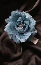 Luxury Turquoise Open Rose Buttonhole Mother Of The Bride/Groom Wedding Guests