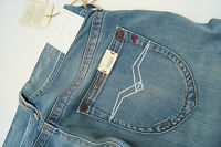 REPLAY WV580F Baggy Janice Damen Jeans Hüft Hose schlag 27/34 W27 L34 blau NEU