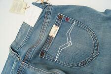 Replay wv580f Baggy Janice Jeans Femmes Hanche Pantalon Coup 27/34 w27 l34 Bleu Nouveau