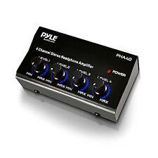 4-channel Headphones Signal Splitter Amp Distribution Sharing Amplifier Box