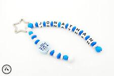 Taschenbaumler/Schlüsselanhänger mit Namen ★ Schutzengel in blau/weiss ★ Neu ★