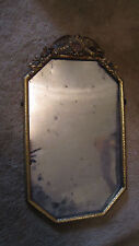 US MILITARY Brass Picture Frame / EAGLE w US FLAG HERALDIC SHIELD / Late 1800s