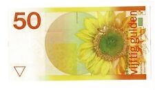 Netherlands 50 Gulden 1982 Zonnebloem AUNC (Sunflower)