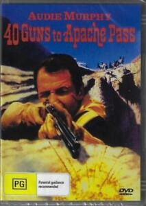 40 Guns To Apache Pass DVD Audie Murphy New and Sealed Australia Region 4