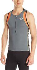 Pearl Izumi Men's ELITE In-R-Cool Triathlon Tri Singlet Jersey - Gray (Small)