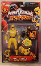 "Power Rangers Ninja Storm 5"" Yellow Wind Ninja Battle Power Ranger Bandai (MOC)"
