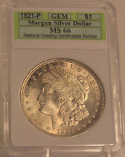 1921 P GEM BU UNC UNCIRCULATED MORGAN SILVER DOLLAR SLABBED HIGH GRADE NICE 1=