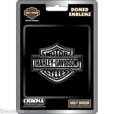 HARLEY DAVIDSON MOTORCYCLES BAR AND SHIELD DOMED AUTO EMBLEM STICKER DECAL