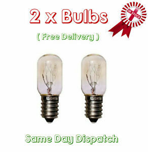 2 Pack Himalayan Salt Lamp Bulb Screw Light Bulbs Set Clear Glass 15W E14