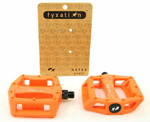 Fyxation Gates PC Bicycle Platform Pedals Orange