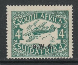"South West Africa, SG 70 var (SACC 95d), MHR, ""Short I in AIR"" variety"