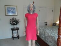 Lilly Pulitzer Coral Spritz Waffle Knit Shift Dress Size XS