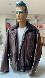 SOUBIRAC REINFORCED MOTORCYCLE JACKET LEATHER XL MADE IN FRANCE CHOCOLATE BROWN