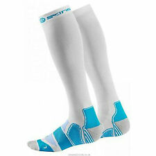 Skins Men's Active Essentials Compression Socks White/Bright Blue XS