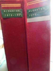Albanien, spannende 2 bändige Slg ab1930 bis 1986 (818)