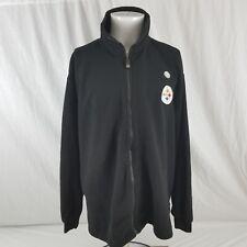 New NFL Men's XL Pittsburgh Steelers Black Fleece Embroidered Zip Jacket