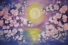 Painting on fabric Purple Sakura