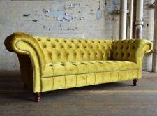 Chesterfield Design Luxus Polster Sofa Couch Sitz Garnitur Leder Textil Neu #185