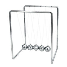 Desktop Silver Newtons Cradle Executive Toy - Boxed Retro Office Gadget Gift New