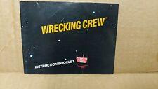 Wrecking Crew Black Box Version NES Nintendo Instruction Manual Only - Nice!