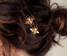 1pc Europe Texture Bee Style Golden Alloy Lady HairClip Hairpin Hair Accessory