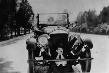 Photo originale Max Linder automobile cascade