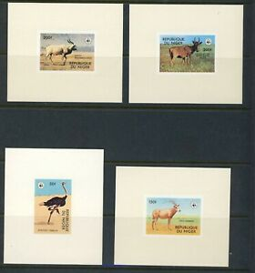 Niger 1978 WWF African animals Imperf Sheets MNH