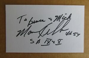 MARV KELLUM SIGNED AUTOGRAPH 3X5 INDEX CARD NFL 2X SUPER BOWL CHAMPION STEELERS