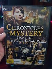 Chronicles of Mystery - Secret of The Lost Kingdom -  PC GAME  - FREE POST *