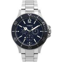 Timex Men's Watch Harborside Chronograph Blue Dial Bracelet TW2U13200VQ