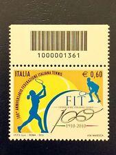 2010 – FEDERAZIONE ITALIANA TENNIS Francobolli codice a barre 1361