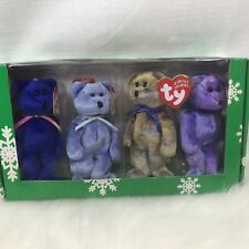 Retired TY Beanie Baby,  Cubby I, II, III, & IV. Tags and Box included. 2001
