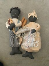 """Vintage African American Rag Dolls 12"""""""