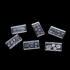 6pcs Clear 3D Acrylic Mold for Nail Art Diy Decor Design 6 Different Style Fh