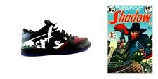 "Custom Hand Painted Nike Dunks SB Low ""The Shadow"" Comic Character Men's 11 Shoe"