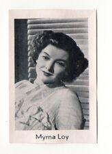 Myrna Loy 1950 Nordland Film Star Series 2 Cigarette Card #130