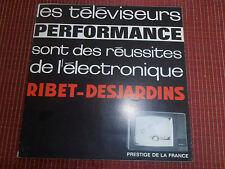 catalogue - dépliant - radio - télévision vintage RIBET - DESJARDINS ( ref 21 )