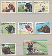 GUINE BISSAU S G 1044 - 1050 DOGS SET + M/S 1051  MNH