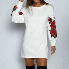 Women Lady Long Sleeves Mini Dress Clubwear Autumn And Winter Outfit Long Blouse