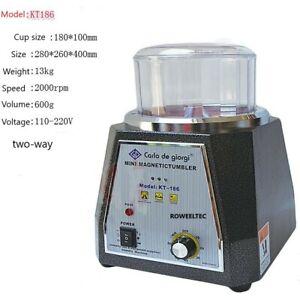 T186 185mm Magnetic Tumbler Jewelry Polisher Finisher Super Finishing Machine