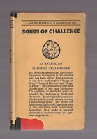 SONGS OF CHALLENGE vintage Hc/Dj 1922 Rare Dustjacket ROBERT FROTHINGHAM 1st Ed