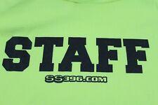 Ground Up Restoration Chevy Parts Event Staff shirt XL Safety Green MINT!!!