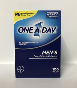 Bayer One A Day Men's Complete MultiVitamin/Miltimineral Supplement-100 Tablets