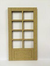 Georgia Mdf puerta con ocho aperturas, muñeca casa miniatura Accesorio & Accesorios