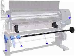 "Q6651-60146 (Item No 2 in photo) Spindle Rod 42""  - HP Z6100 Designjet Printer"
