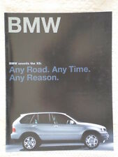 BMW X5 gamme 2000 marché canadien catalogue brochure prospekt intro
