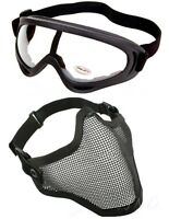 Demi Masque Grillage & Airsoft Paintball Des Lunettes De Protection